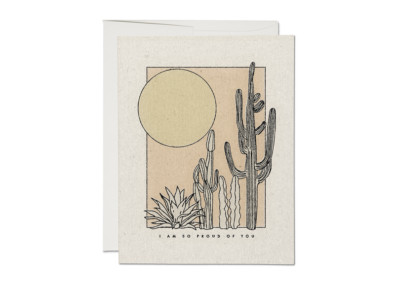 Desert Sunrise Proud Of You Card
