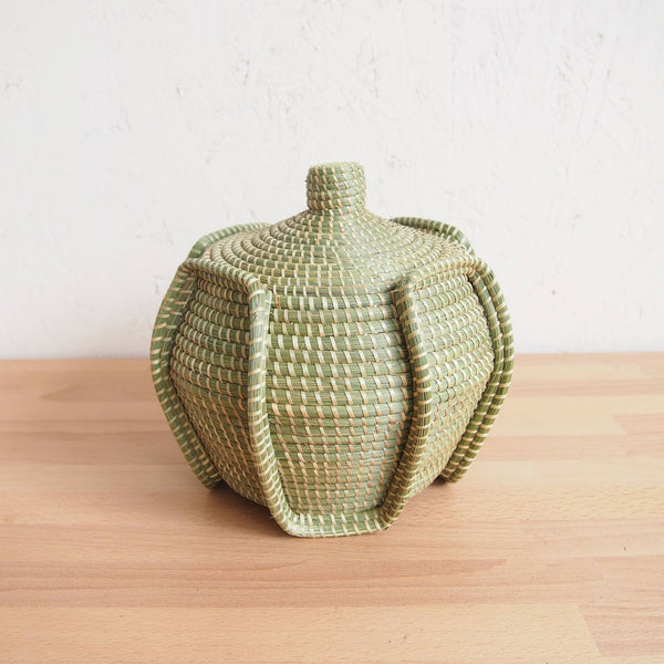 Serpent Lidded Basket