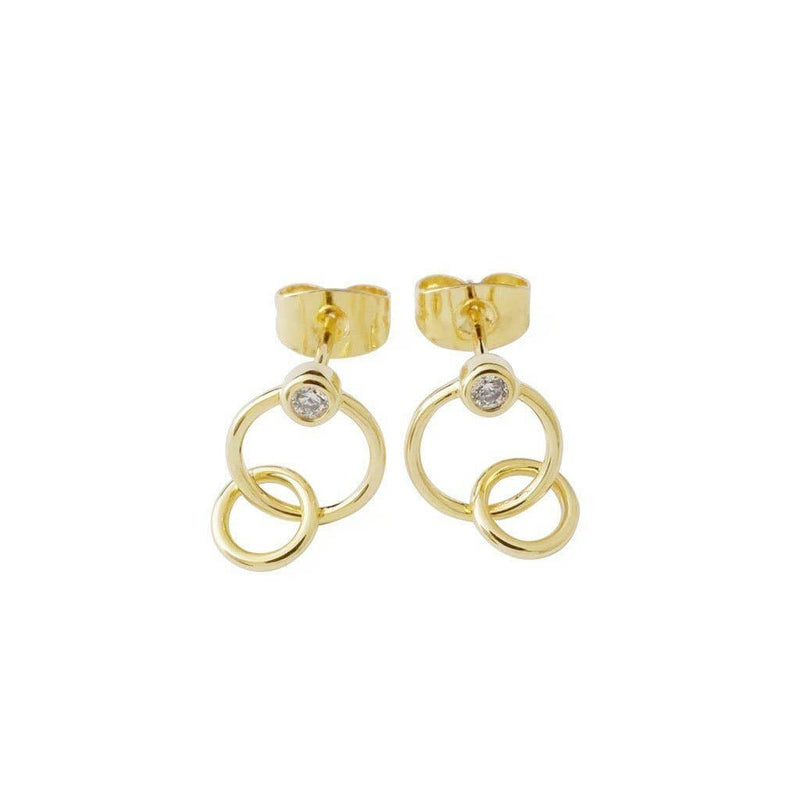Tansy Crystal Link Earrings