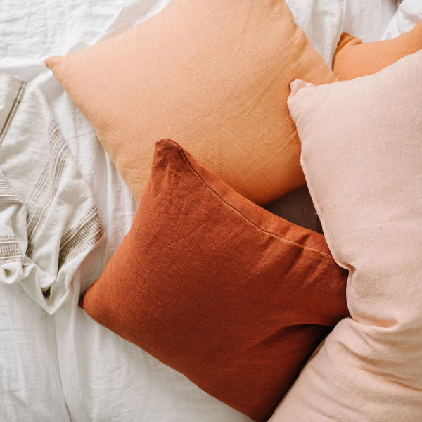 Linen Euro Pillow I rust