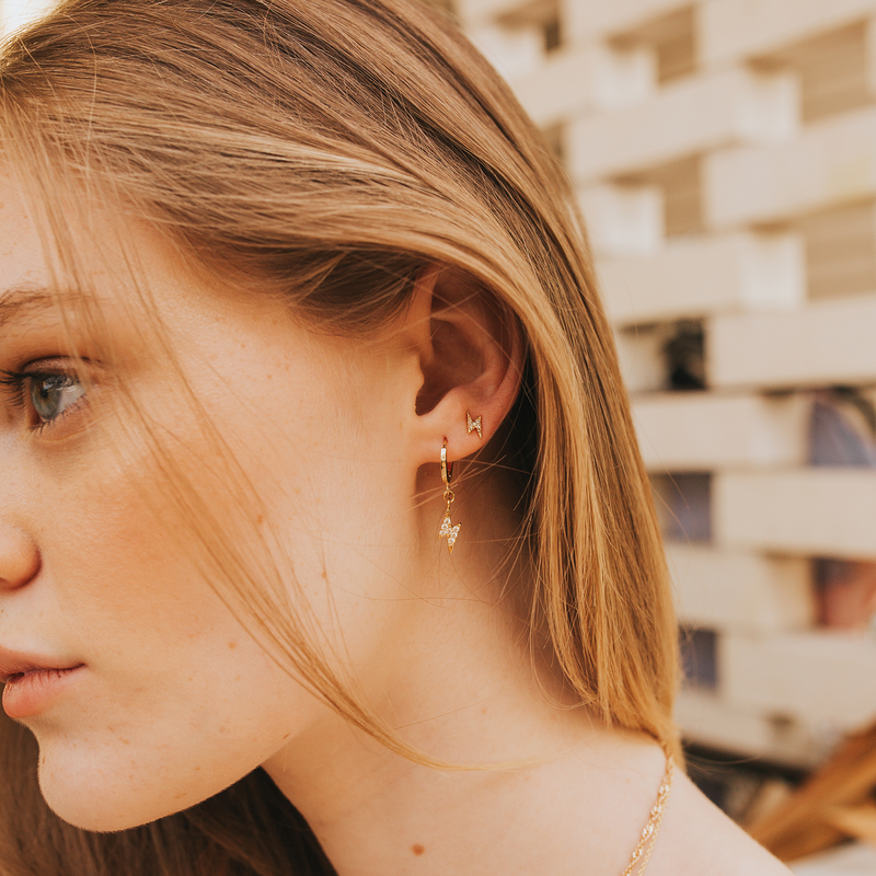 Mod + Jo - Stud Earrings - Lightning