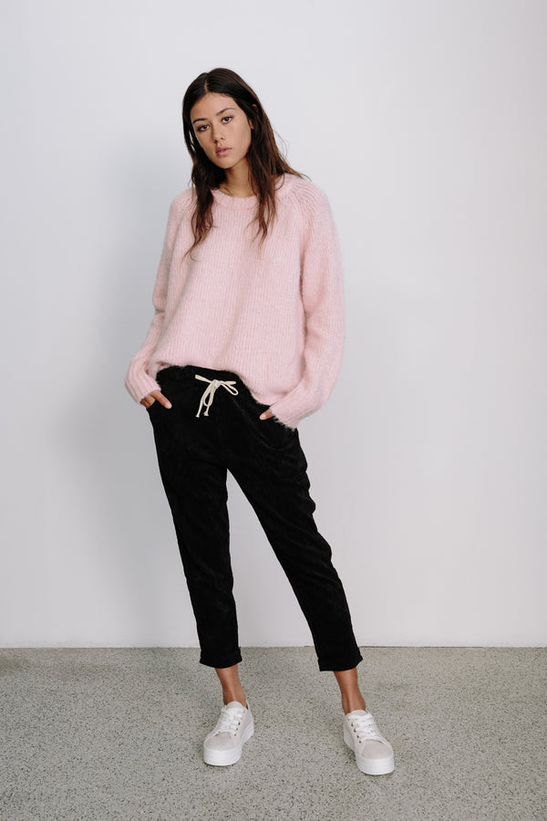 Relaxed Cord Pant- black