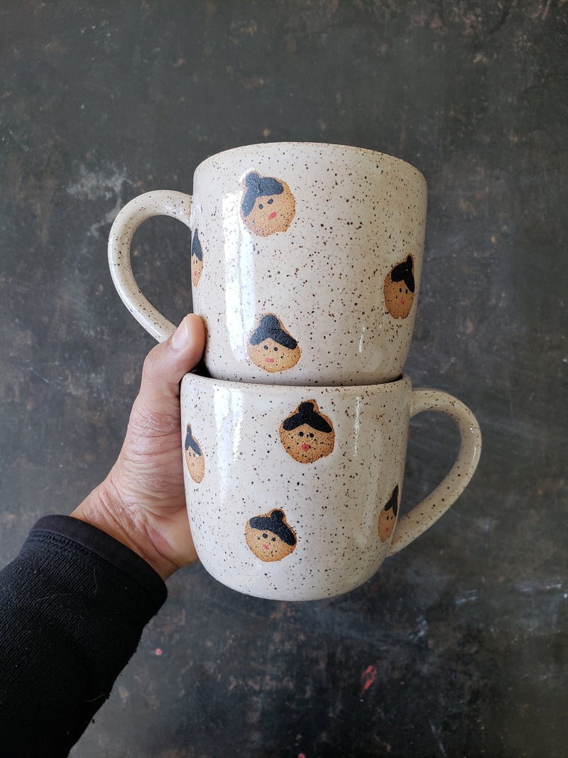 Speckled Faces Cappuccino Mug