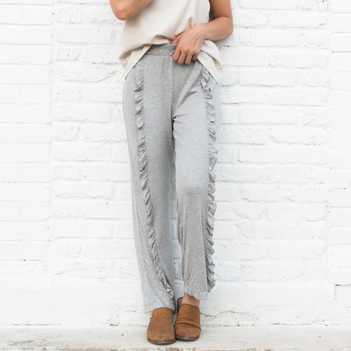 Grey Ruffle Lounge Pant
