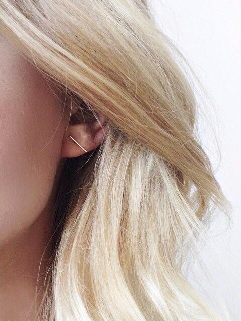 Mod + Jo - Stud Earrings - Above Bar (Gold Filled)
