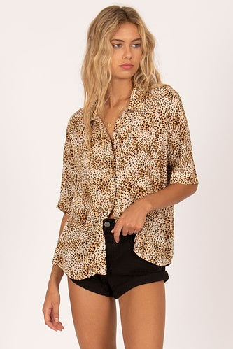 Feline Short Sleeve Top