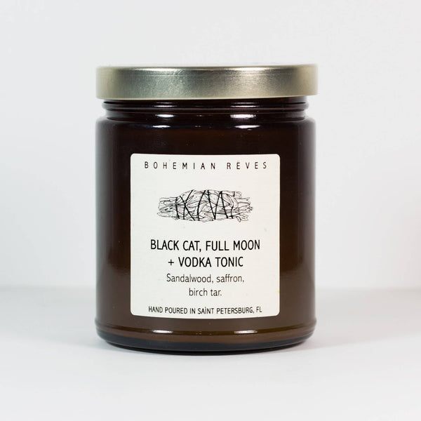 Black Cat Full Moon Vodka Tonic Candle