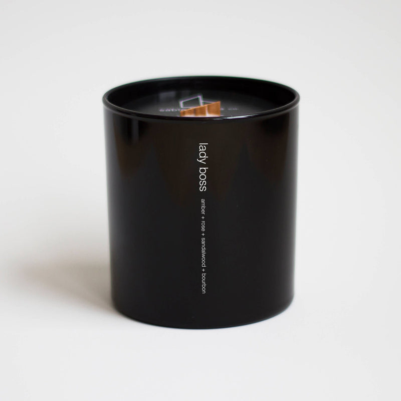 lady boss tumbler candle