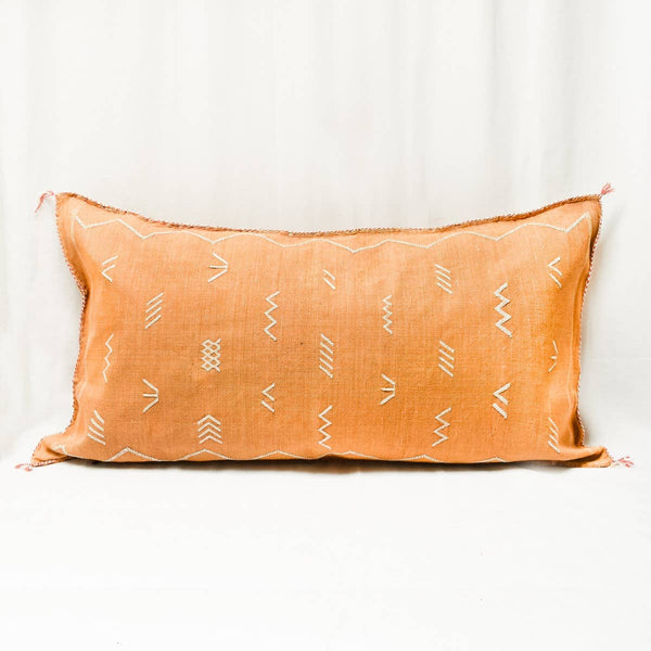 Merzouga Cactus Silk King Size Pillow I terracotta
