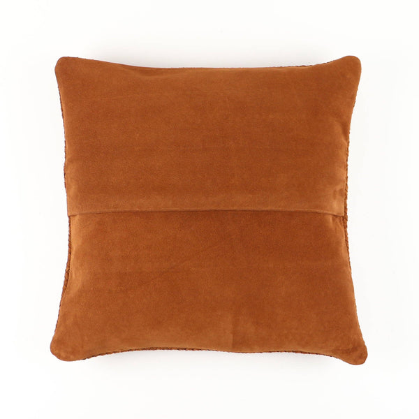 Socco Williamsburg Woven Suede Leather Pillow
