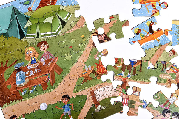 Little Likes Kids Camping Outdoors Jumbo Puzzle - 48 PCS