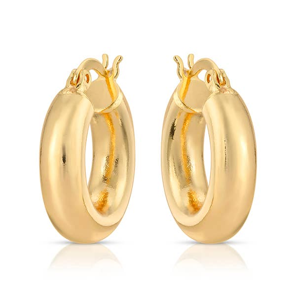 Mini Delfina Gold Hoops