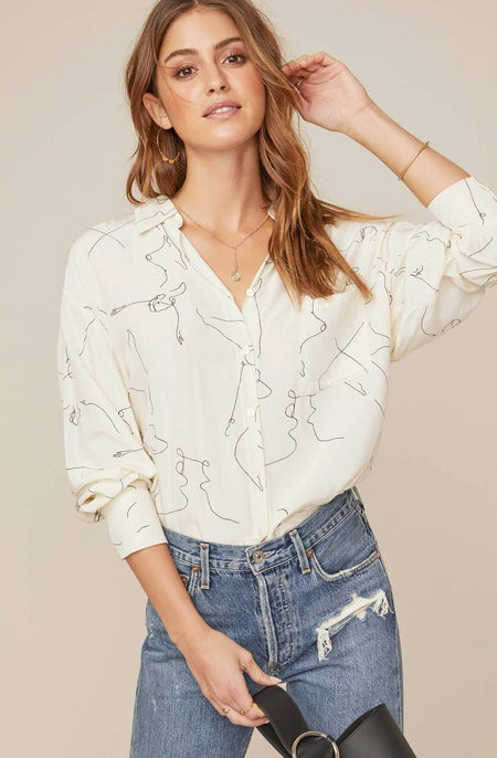 Eva Linen Buttondown Top