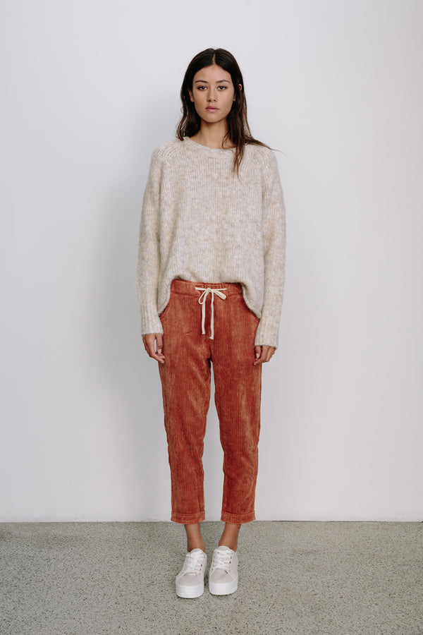 Rust Cord Relax Pants