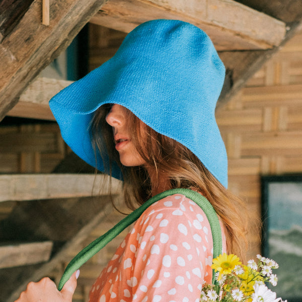 Bloom Crochet Sun Hat I Mosaic Blue