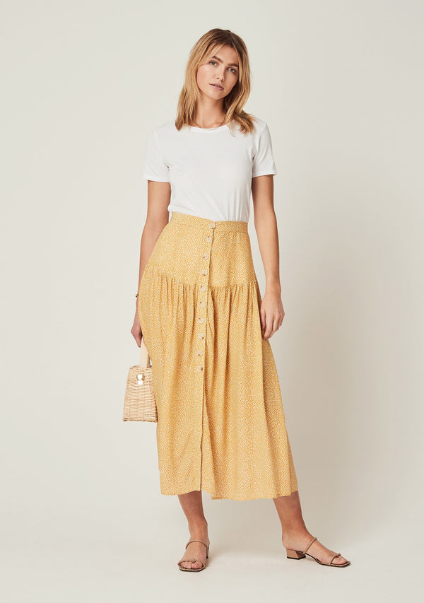 Tear Drop Brooks Midi Skirt