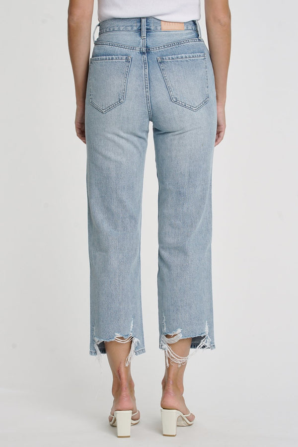 Cassie Super High Rise Straight CropI Laurel