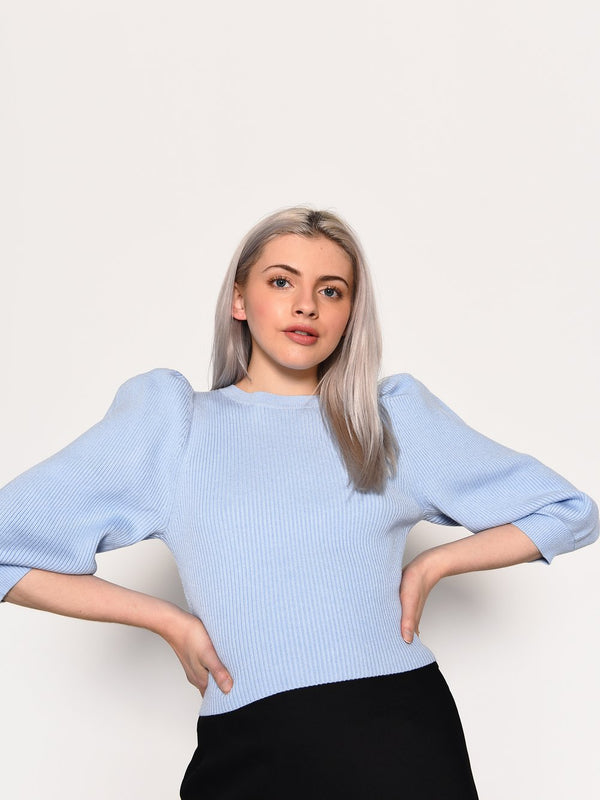 Pale Blue Knitted Jumper