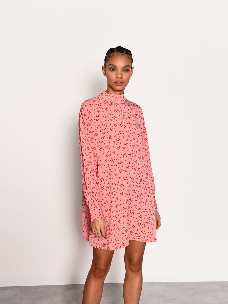 Amor Splatter hIgh Neck Dress