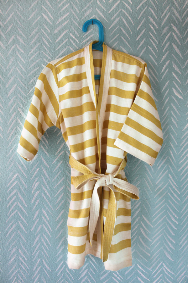 Earth Stripe Bathrobe I Adults & Kids