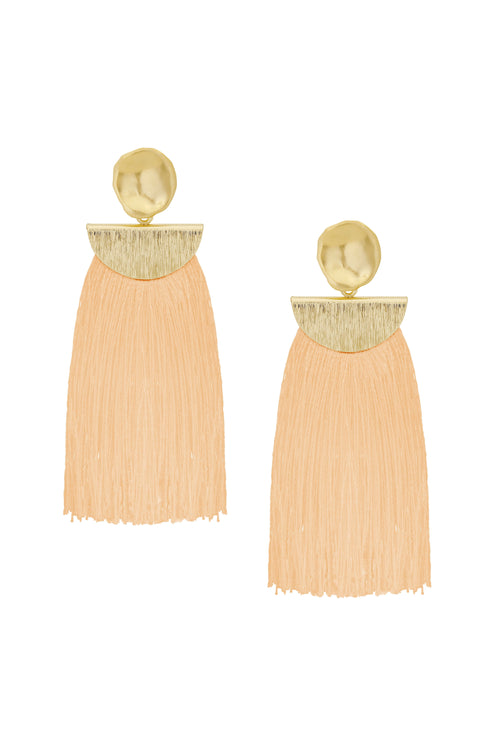 Ellie Long Fringe Earring