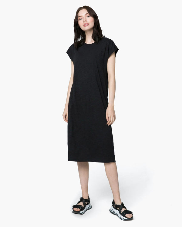 Easy Slub Dress Black