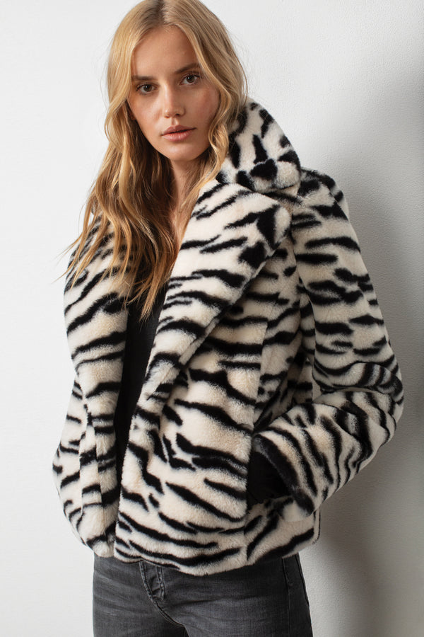 Feelin' Good Zebra Coat