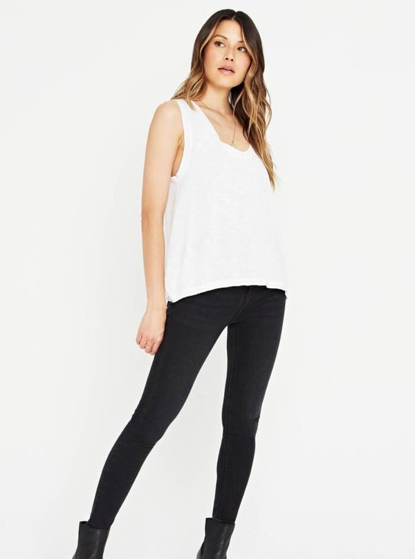 ELLA TEXTURED TANK - WHITE