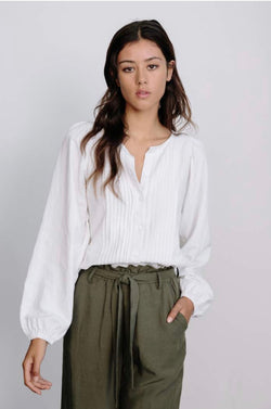 Pleated Blouse- Ivory