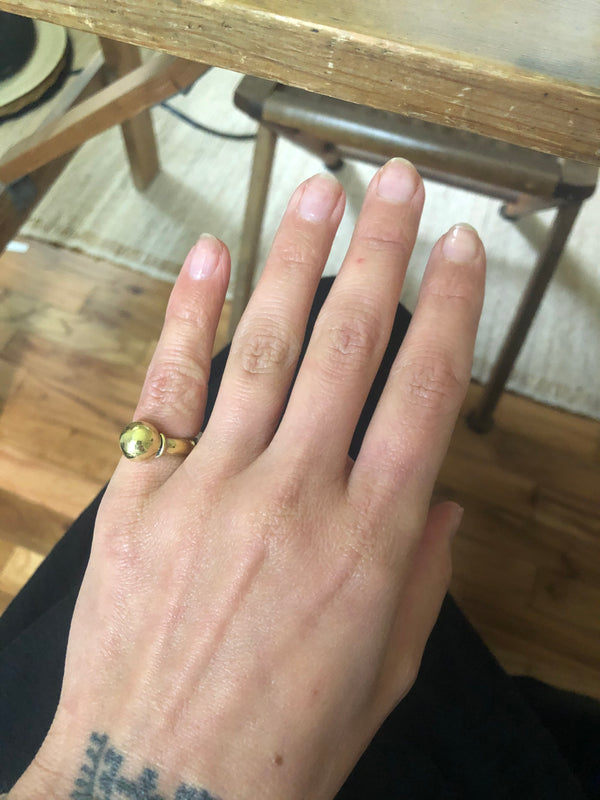 Brass Pinky Ring