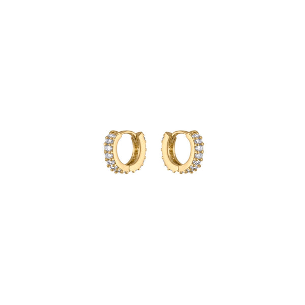 CZ Pave Mini Tiny Huggie Hoops