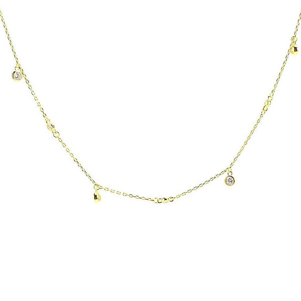 Dangling Diamond Shorty Necklace