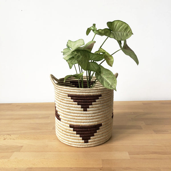 10x10 Handled Storage Basket - Brick Triangle