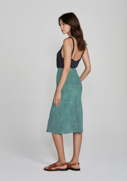 Diamond Bias Midi Skirt