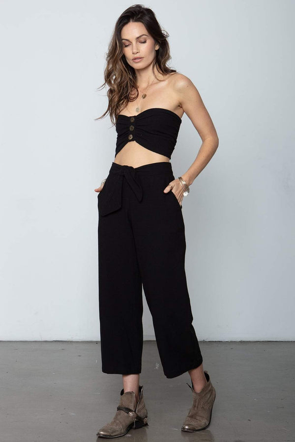 The Box Tie Pants Black