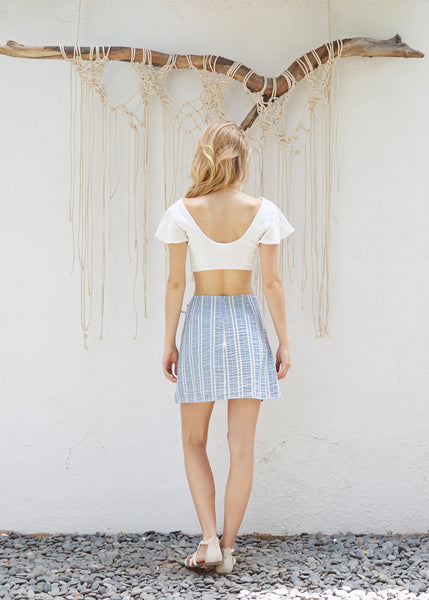 Waves Wrap Skirt