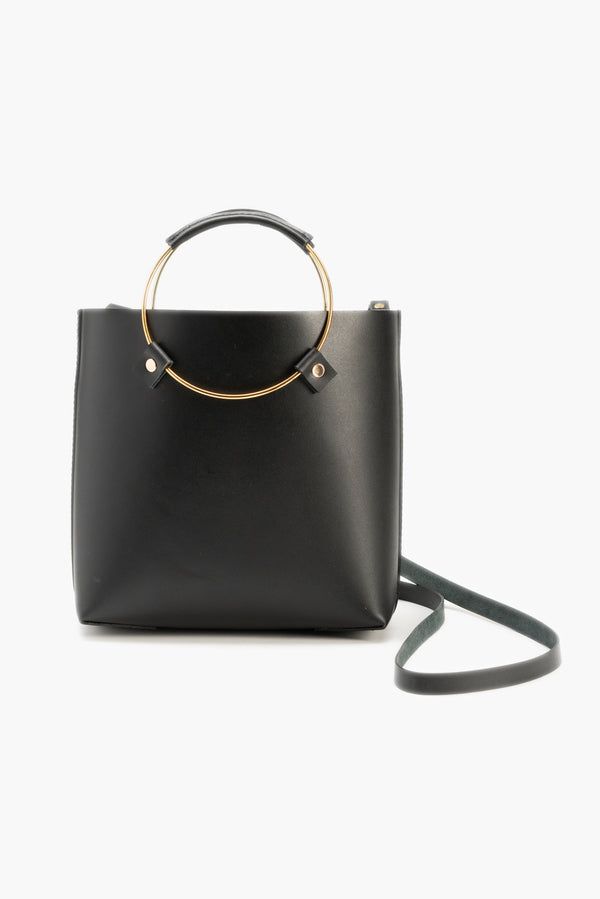 Luxe Brass Handle Handbag