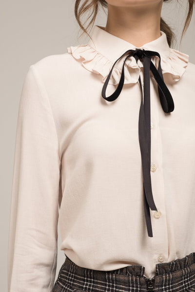 All Tied Up Collar Top