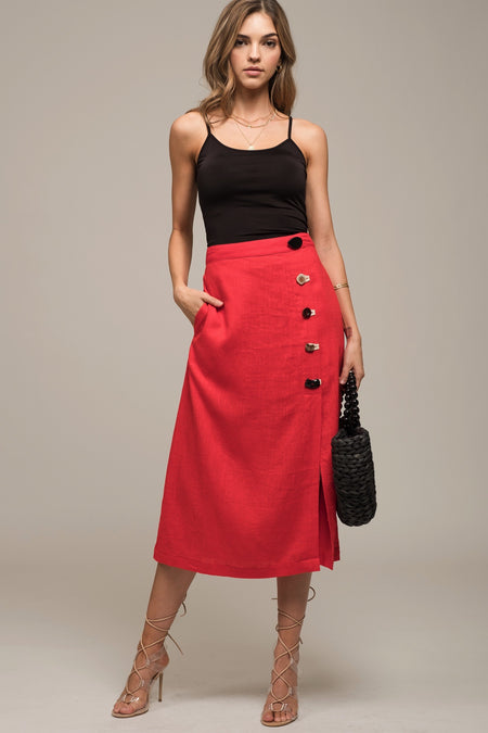 The Silky Midi Skirt