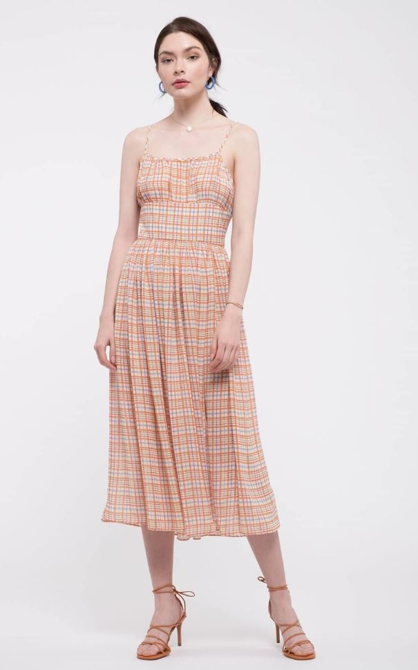 Summer Plaid Smock Dress