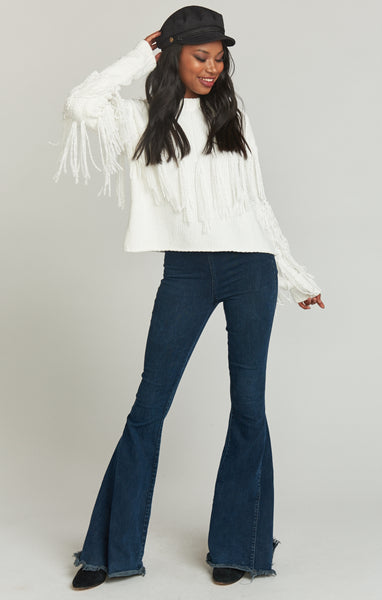 Carlton Crop Fringe Sweater
