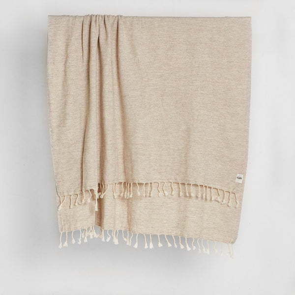 Nadir Wool Throw in Sand