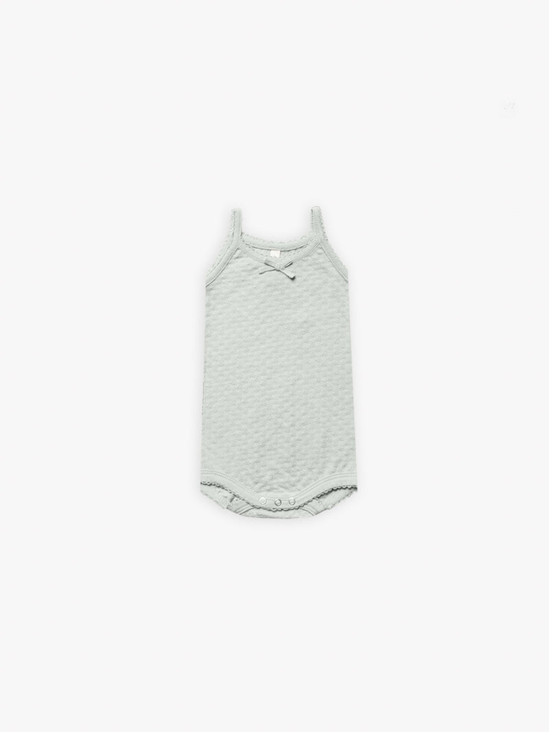 Pointelle Tank I sea glass