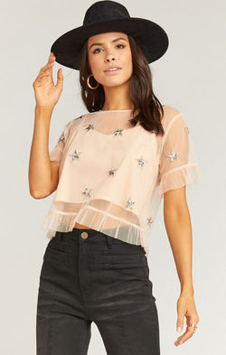 Shiny Star Sequin Top