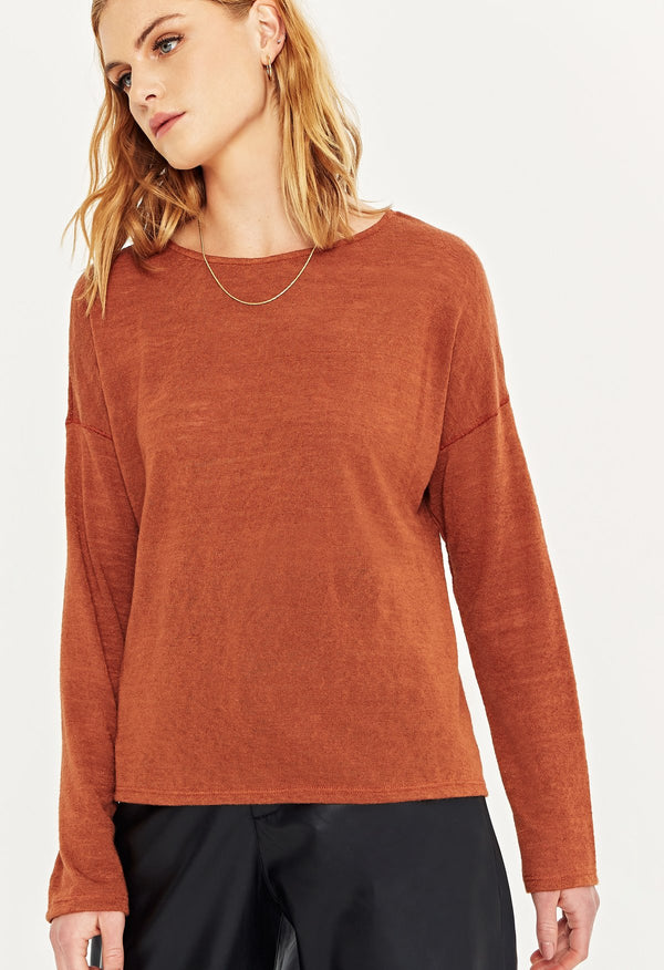 REMI BOYFRIEND LONG SLEEVE - GINGER