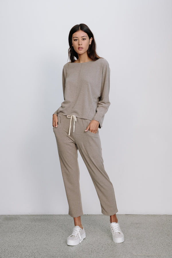 Mocha Ribbed Lounge Pants