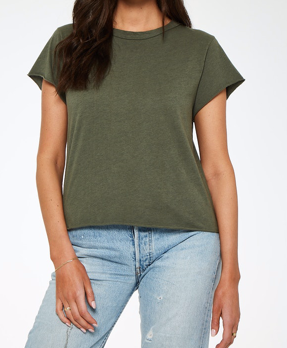 Jax Heathered Tee Sage