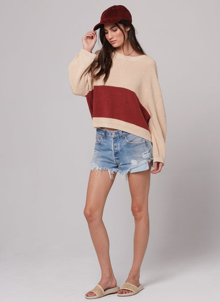 Stripe Sweater Rose