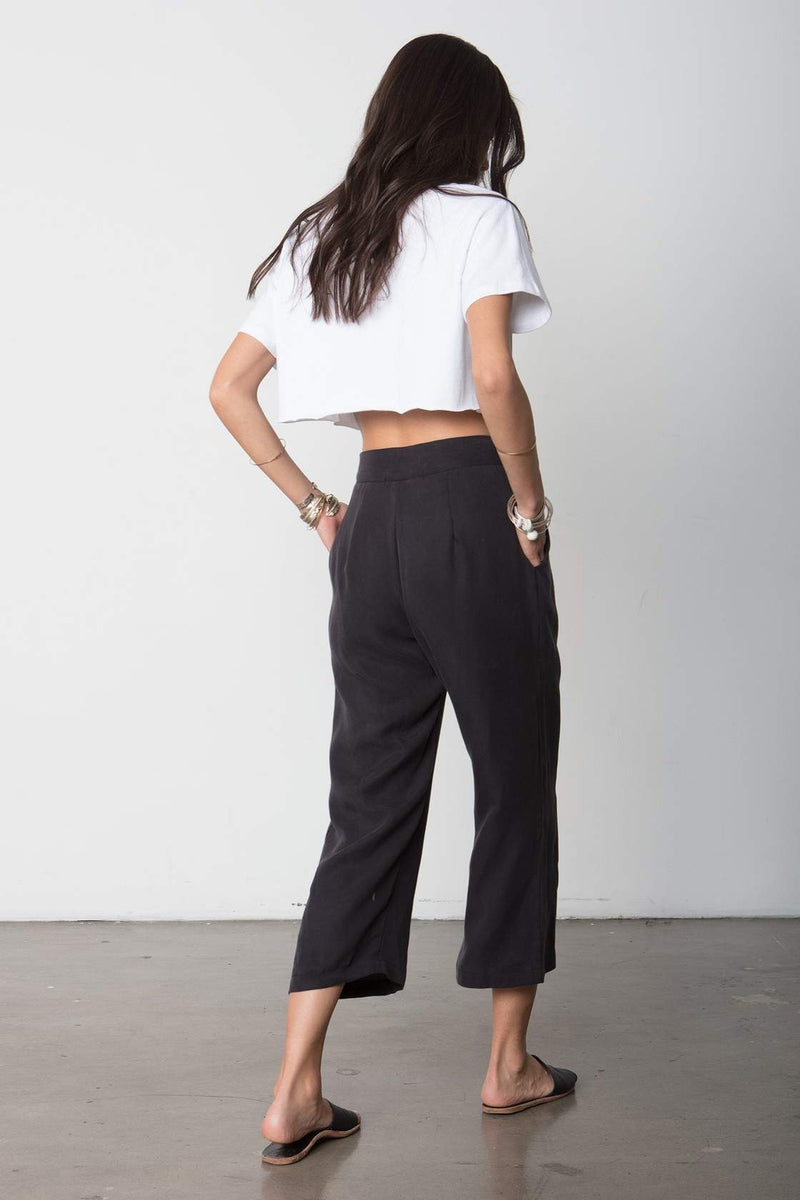 The Box Tie Pant black Lyocell