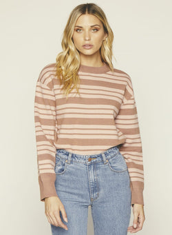 Tara Sweater- Dusty Rose